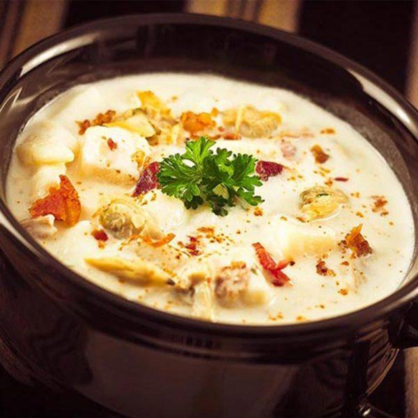 A bowl of chowder