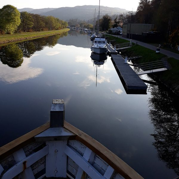 A view up the Caledonian Canal from the Highland Lassie boat